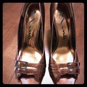 Nina Bronze Heels